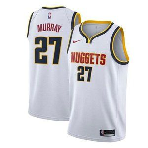 Denver Nuggets Jamal Murray White Jersey